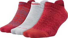 Nike Drifit Half Cushion No Show Socks  3 Pair Medium OrangeDye RedGrey *** Be sure to check out this awesome product.