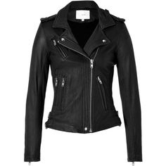 IRO Leather Jacket in Black (4.655 BRL) ❤ liked on Polyvore featuring outerwear, jackets, coats, tops, coats & jackets, quilted jacket, leather moto jacket, leather jacket, iro jacket and rider jacket