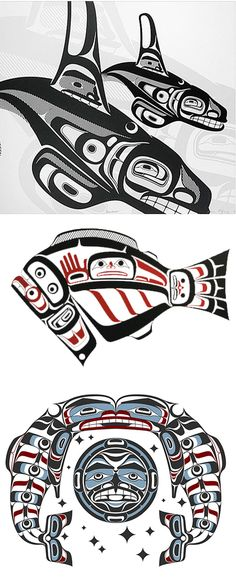 Great westcoast Indian art from Canada. found via spiritsofthewestcoast.com