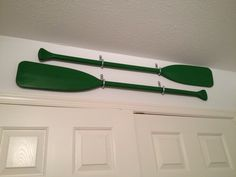 Oars As Wall Decor Found These Thrifting One Day And Loved The Color Hubby