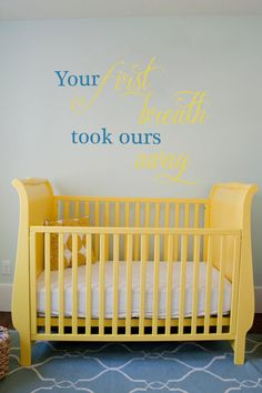 Beautiful Saying for a child's bedroom! #Vinylimpression