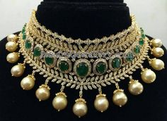 Heavy Zambain Emeralds Choker