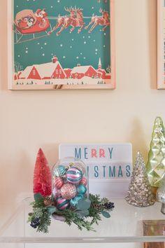Retro Christmas Wall Art