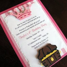 Princess and Pirate Party Invitations Pirate and by ScrapYourStory