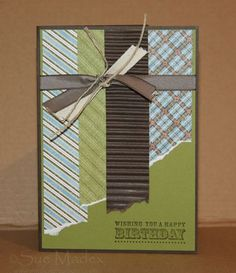 "Everyone needs a great ""masculine card"", great for using scraps, too...."
