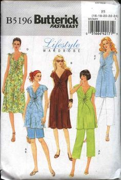 Shorts and Pants  Sewing Pattern Butterick 5286 Men/'s /& Boys Top