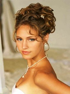 updo hairstyles with shoulder length hair and strapless dress - Google Search