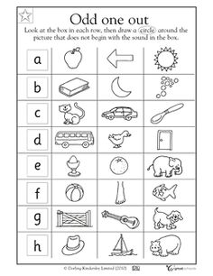 Worksheets 1st Grade Alphabet Worksheets pinterest the worlds catalog of ideas in this early reading worksheet your students will draw a circle around object that doesnt start with letter at the