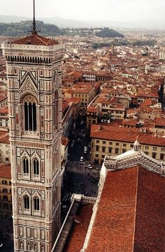 Florence, Italy ... The Duomo and the Bell Tower. I climbed that tower! 414 steps. :)