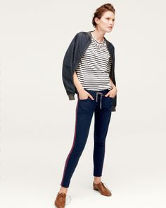 Women's Clothing Clothing, Shoes & Accessories Realistic J.crew Andie Chino Tuxedo Stripe 2 Euc High Quality Goods