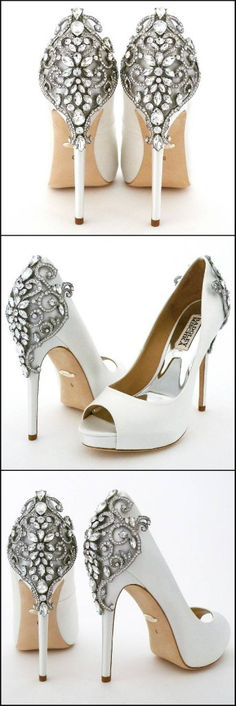 2dd74709f3dd Newest team member in our Badgley Mischka Wedding Shoe line-up. Karolina -