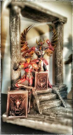 - Diorama saint seiya -Myth cloth ex -saint seiya  -caballeros del zodiaco -geminis  -pegaso -pandora box -diorama -v1 #mythclothex