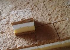 Cseh krémes recept foto Cake Bars, Macarons, Sweet Recipes, Healthy Life, Food And Drink, Dairy, Pie, Sweets, Cheese