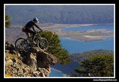 Biking in Conguillio National Park.  reservas@chiletravelway.com