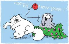 Happy New Year !  Simon's cat