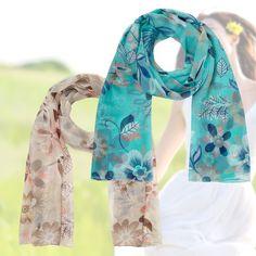Seidenmisch-Schal mit Blumenprint - 83 % sparen auf lesara.de