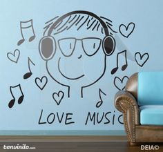 Naklejka love music