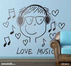 Naklejka love music
