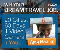 Do you love to #travel? Do you have an interest in videography?  Want to spend 60 days this spring and summer traveling to some of the most popular destinations in Europe and North America? If you answered yes to any of these questions, then Viator wants you for the travel experience of a lifetime! #dreamtraveljob