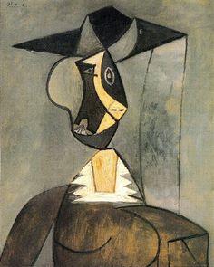 "Pablo Picasso - ""Woman in gray"". 1942"