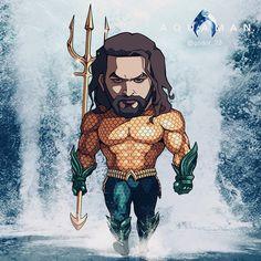 Aquaman art - Keith Jackson - My Ideas Dc Comics Art, Marvel Dc Comics, Marvel Heroes, Thanos Marvel, Chibi Characters, Marvel Characters, Chibi Marvel, Avengers Wallpaper, Batman Vs Superman