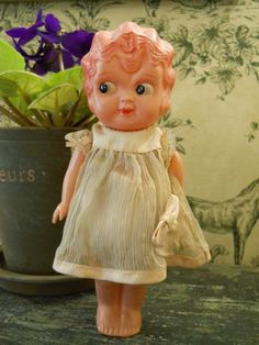 "Celluloid Doll Marked Japan - 8"" Tall Kewpie."