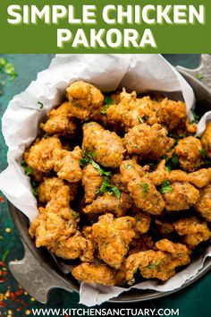 This simple Chicken Pakora recipe is so easy you can make it for a few people or a crowd! They taste amazing if you dip them in sweet chilli sauce too! #pakora #chickenpakora #partyfood #indianbuffet Baked Pakora Recipe, Chicken Jalfrezi Recipe, Pakora Recipes, Indian Appetizers, Appetizer Recipes, Indian Food Recipes, Asian Recipes, Ethnic Recipes, Chicken Tikka