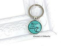 Schlüsselanhänger Du bist mein Anker (A067) von Windstill & Wolkenfrei - Einzigartiger, handgemachter Schmuck für einzigartige Menschen auf DaWanda.com