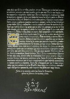 Carta de Cristobal Colón a Luis de Santangel ( hoja 6)
