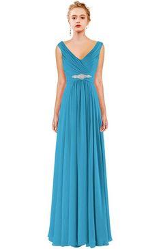 MaliaDress Women Floor Length Chiffon Evening Bridesmaid Dress Prom Gown M015LF