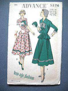 Vintage de los años 40 o principios de los 50 de por Fancywork, $31.00