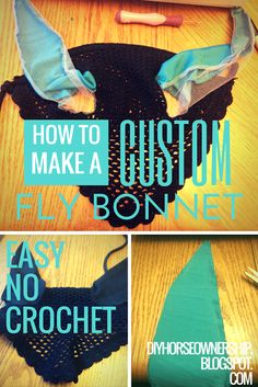 How To Make a Custom Fly Bonnet - Easy No Crochet Method. DIY: Do It Yourself.
