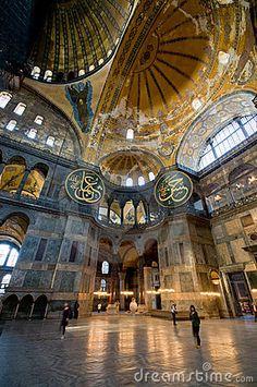 Interior of Hagia Sophia (Aya Sofya) museum in Istanbul.