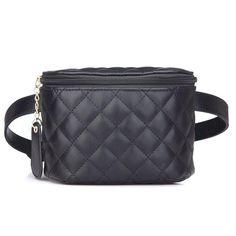 7d1b1cac23a2 Women s PU Leather Waist Bag Solid Women Men Phone Bag Money Belt Waist  Pouch Fanny Pack women Belt Purse Man Bag-in Waist Packs from Luggage   Bags  on ...