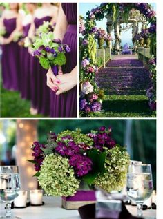 Plum Wedding Color Four Fantastic Choices Pinterest Weddings