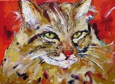 Pet portraits ,custom  paintings of dogs, cats, pigs, cows,animal paintings in semi abstract style to order