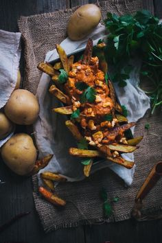Oven Baked Curry Fries