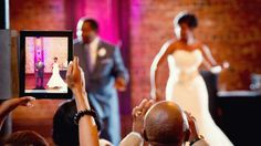 Going to a Wedding? 10 New Wedding Etiquette Rules  Respect the bride and groom's  request if they ask you not to post photos before they do.