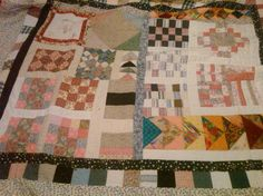 Totally scrappy quilt. Approx. full size.