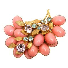 Miriam Haskell. #jewelry #pink