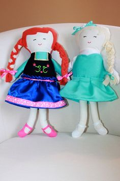 Handmade Disney Frozen Inspired Elsa and Anna by Made4MeDolls