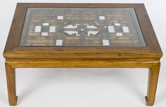 Coffee Table made with Carved Screens