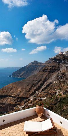 ~ Caldera Cliffs, Fira, Santorini, Greece ~