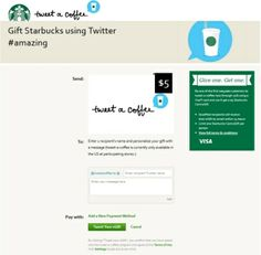 「このコーヒー、あちらのお客様からです」「えっ...」--米スタバでは Twitter を使ってコーヒーをプレゼントできる