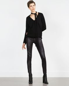 Image 1 of SKINNY TROUSERS from Zara