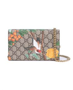 GUCCI Tian Garden Mini Cross Body Bag. #gucci #bags #shoulder bags #leather #canvas #lining #