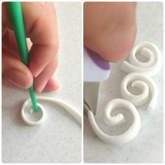 Quilling With Fondant and Gum Paste Quilling Tutorial, Cake Tutorial, Wilton Cakes, Fondant Cakes, Wilton Cake Decorating, Cookie Decorating, Marzipan, Quilling Cake, Fondant Tips