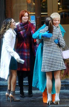 "New York's favorite four women reunite to film their feature movie ""Sex and the City."""