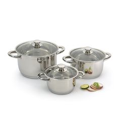 Hrnce sada Vision 6-dílná Premium SS Cast Iron Cookware, Cookware Set, Gotham Steel, Induction Cookware, Small Dining, Daily Meals, Yummy Food, Stainless Steel, Dishes