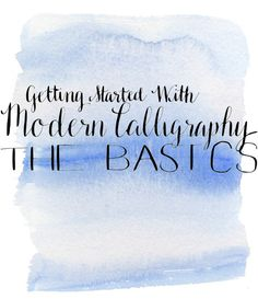 Getting Started with Modern Calligraphy -- The Basics -- Destination Decoration